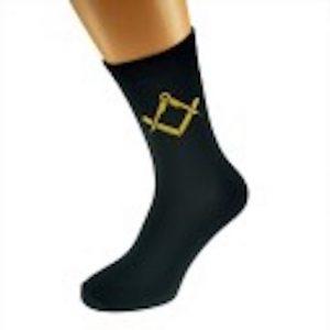 Masonic Socks Black Gold_emblem